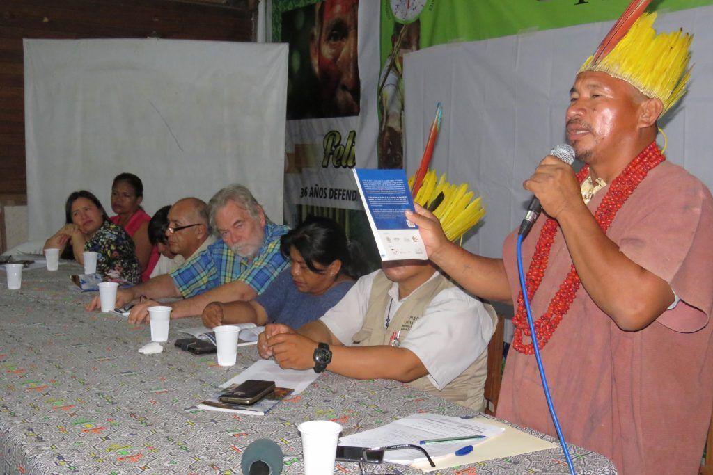 """Presentación del libro """"Tejido territorial Ese Eja"""" (Foto: FENAMAD)"""